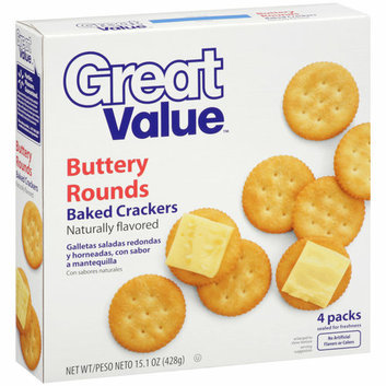 Great Value Buttery Rounds Baked Crackers
