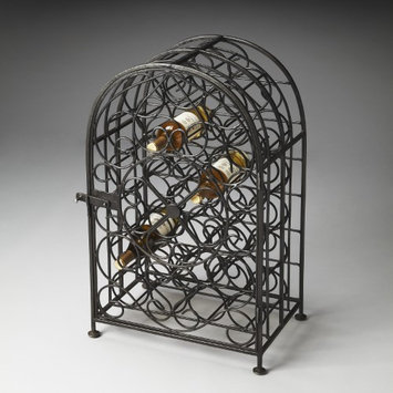 Butler 3119025 Industrial Chic Clybourn Iron Wine Rack in Distressed Black