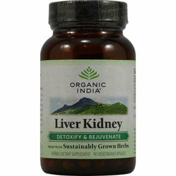 Organic India Liver Kidney Detoxify and Rejuvenate 90 Vegetarian Capsules
