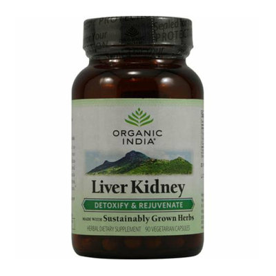 Organic India Liver Kidney Detoxify and Rejuvenate 90 Vegetarian Capsules