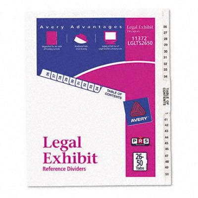 Avery White Legal Index Dividers, Letter, White, 1 Set