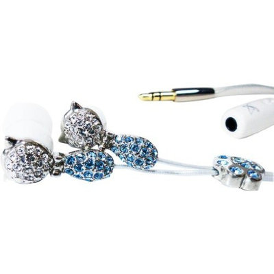 ATOMIC 9 Grungebuds GB105CB Noise Isolation Earphone with Microphone (Crystal Cat Blue) (Discontinued by Manufacturer)