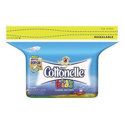 Cottonelle For Kids Folded Moist Wipes Refills, 84-Count Packs (Pack of 8)