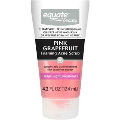 Equate Beauty Pink Grapefruit Foaming Acne Scrub, 4.2 fl oz