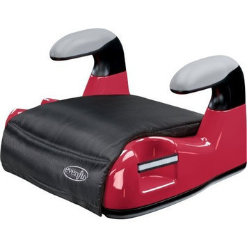 Evenflo Big Kid AMP No Back Booster Car Seat, Red (Discontinued by Manufacturer)