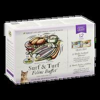 Variety Feline Buffet Cat Food Surf & Turf Cuts & Gravy - 12 CT