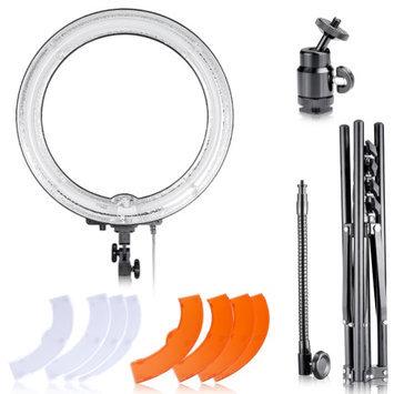 Neewer Dimmable 18 Diameter 75W(600W equivalent )Camera Photo Studio 5500K Ring Fluorescent Flash L