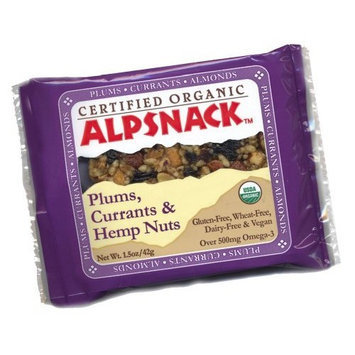 Alpsnack Plums, Currants & Hemp Nuts, 1.5-Ounce Bars (Pack of 12)