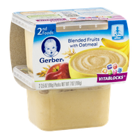 Gerber® 2nd Foods Blended Fruits with Oatmeal