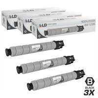 LD Compatible Replacements for Ricoh 841295 (841724) 3PK Black Laser Toner Cartridges for use in Ricoh Aficio, Lanier, and Savin Printers