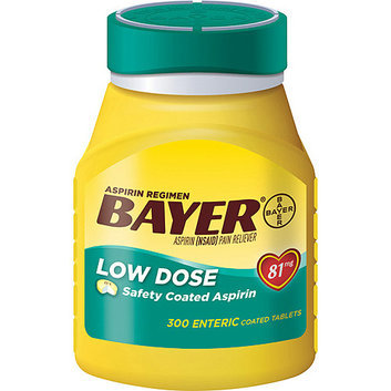 Bayer Low Dose 81mg Aspirin Regimen