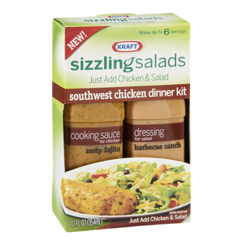Kraft Sizzling Salads Southwest Chicken Dinner Kit
