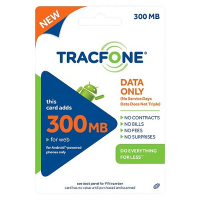 Tracfone TracFone Android Data Card $10 - 300 MB