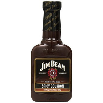 Jim Beam Spicy Bourbon Barbecue Sauce, 18-Ounce Bottles (Pack of 6)