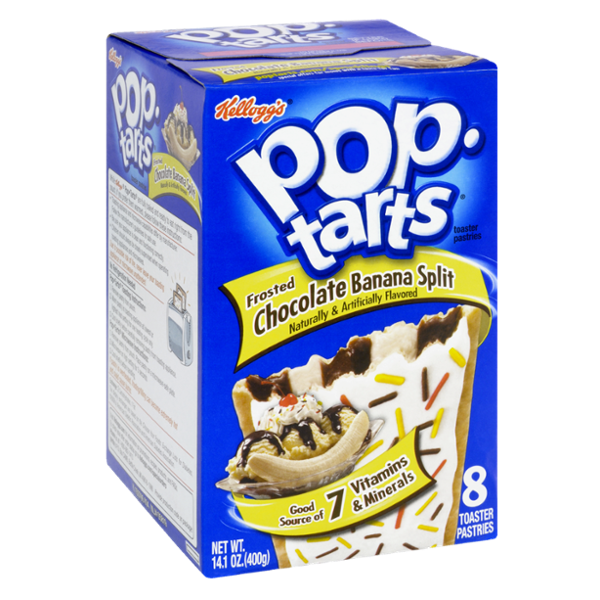Kellogg's Pop-Tarts Frosted Chocolate Banana Split Toaster Pastries