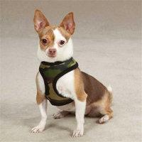 Petedge ZW2195 20 43 Casual Canine Fabric Camo Harness Lrg Green