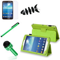 Insten INSTEN Green Folio Leather Case Cover for Samsung Galaxy Tab 3 8 8.0