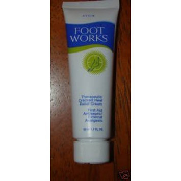 Avon Foot Works Therapeutic Cracked Heel Relief Cream 1.7oz.