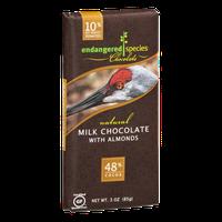 Endangered Species Chocolate Milk Chocolate With Almonds Bar Natural - Sandhill Crane