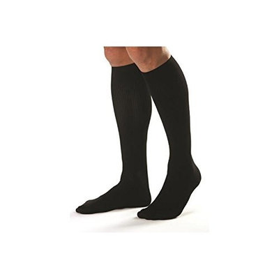 Jobst Men's 30-40 mmHg Closed Toe Knee High Support Sock Size: X-Large, Color: Black