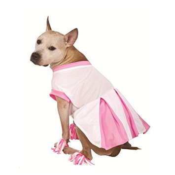 Rubies Costume Co Rubies Dog Cheerleader Costume Pink Cheer Leader Pet Outfit with Pom Pom Anklets