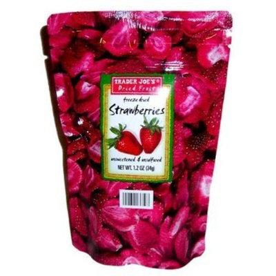 Trader Joe's Freeze Dried Strawberries Unsweetened and Unsulfured