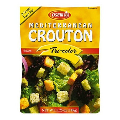 Osem Mediterranean Tri-Color Croutons, 5.25-Ounce Packages (Pack of 8)