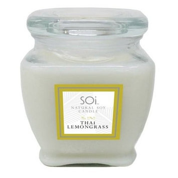 The Soi Company Thai Lemongrass Soy Candle 140 Hour Burn Time - 16 Ounces Candle(S) - Odor Elimination