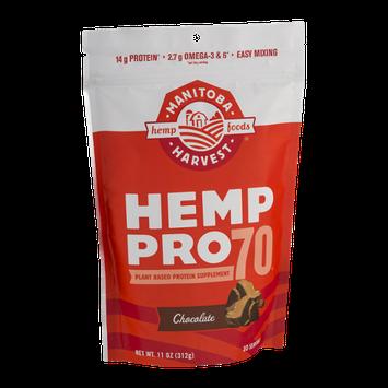 Manitoba Harvest Hemp Pro 70 Plant Based Protein Supplement Chocolate