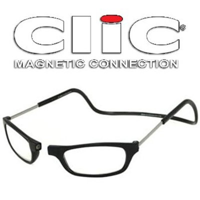 Impulse Clics CliC Long Adjustable Front Connect Ready Reader, Black Long, 3.00 Strength