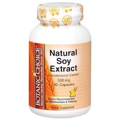 Botanic Choice Natural Soy Extract 500 mg Herbal Supplement Capsules