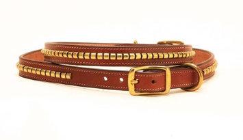 Tory Leather Clincher Dog Collar 20 Inch Oakbark