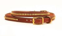 Tory Leather Clincher Dog Collar 16 Inch Oakbark