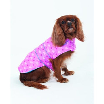 Fashion Pet Lookin Good Heart Puffy Blanket Coat for Dogs, Large