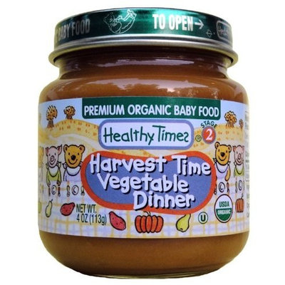 Healthy Times Organic Baby Food, Harvest Time Vegetable Dinner, 4-Ounce Jars (Pack of 12)