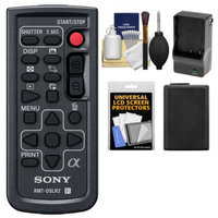 Sony RMT-DSLR2 Wireless Remote Shutter Controller with NP-FW50 Battery & Charger + Cleaning & Accessory Kit for Alpha A33, A55, A57, A65, A77, A99, NEX-5/5N/5R, NEX-6, NEX-7 Cameras