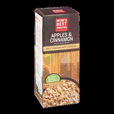 Mom's Best Naturals Multigrain Hot Cereal Apples & Cinnamon - 5 CT