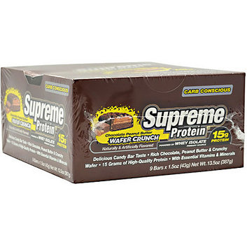 Supreme Protein Chocolate Peanut Butter Wafer Crunch Protein Bars