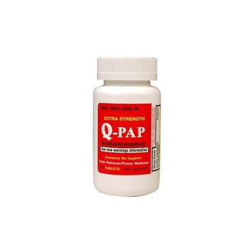 QUALITEST PHARMACEUTICALS Q-PAP Extra Strength Acetaminophen 500 mg 100 Tablets