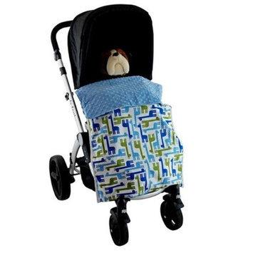 Blue Baby Bum Giraffe Stroller Blankie Blue