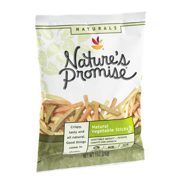Nature's Promise Natural Vegetable Sticks Vegetable Medley Potato, Tomato and Spinach