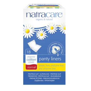 Natracare Natural Panty Liners, Normal, 18 ea