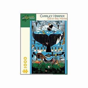 Charley Harper Glacier Bay Alaska Puzzle 1000 pcs  Ages 12 and up