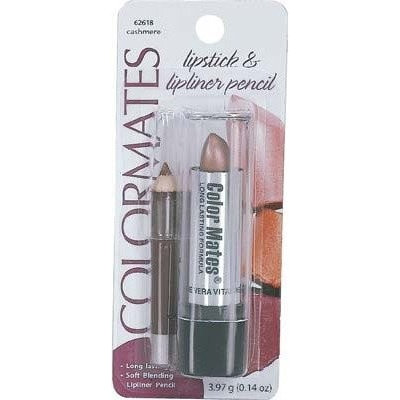 COLOR MATES LIPSTICK WITH LIP LINER PENCIL #62618 CASHMERE