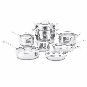 Cuisinart 44-13 13-Piece Set Contour Stainless Cookware
