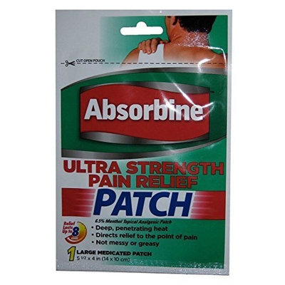 Absorbine Ultra Strength Pain Relief Patch, Large (PACK OF 3)