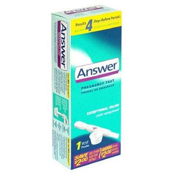 Answer Pregnancy Test 1 test