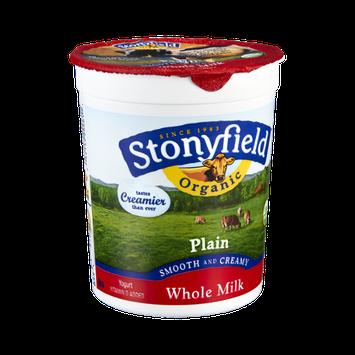 Stonyfield Organic Plain Smooth and Creamy Whole Milk Yogurt