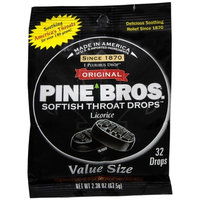 Pine Bros. Softish Throat Drops Value Pack, Licorice, 32 ea