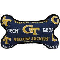Football Fanatics NCAA Georgia Tech Yellow Jackets Fabric Bone Dog Toy
